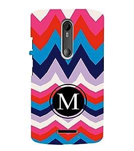 EPICCASE M letter Mobile Back Case Cover For Moto X 3rd Gen (Designer Case)