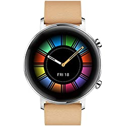 "Huawei Watch GT 2 Classic - Smartwatch con Caja de 42 mm, 1 Semanas de Uso, Pantalla Táctil AMOLED de 1.2"", GPS, 15 Modos Deportivos, Pantalla 3D de Cristal, Color Gravel Beige"