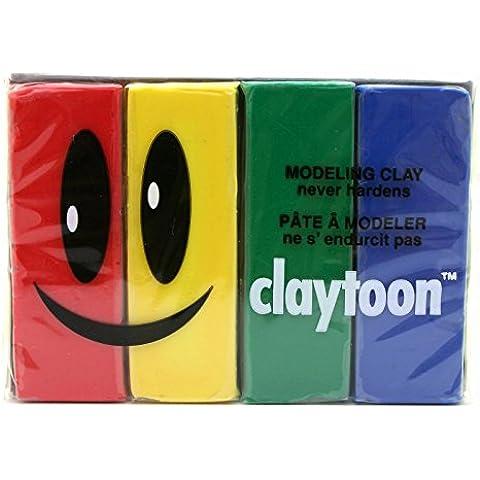Modelado CEC claytoon arcilla 1libra conjunto de 4 colores primarios (jap?n importaci?n)