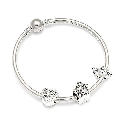DKLHBG Armband Armbänder Mit Liebe Herz Teekanne Haus Perlen Marke Armband Für Frauen Kinder Schmuck