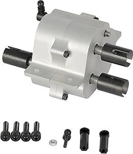 Carson 500907266 500907266-1 - Motor Distribuidor (Aluminio, 2 velocidades, Motor RC, Piezas de Repuesto, Piezas de Tuning, Accesorios, modelismo, Escala 1:14), Color Plateado