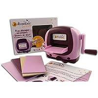 Toga DC00- Máquina decoradora de corte, plástico, 19x 13,5x 8cm, color rosa/morado