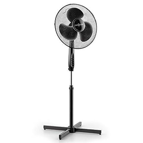 oneConcept Black Blizzard - Ventilateur sur pied de 40,6cm 16