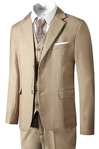 Hanayome Herren Anzug 3-Teilig Business Fit Anzugjacke Anzughose Weste (X Men Anzüge)