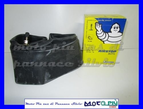 Chambre à air MICHELIN Airstop Butyl pour moto 80/100 - 18 90/90 - 18 3.00 - 18 2.75 - 18