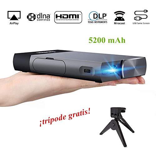 Mini Proyector Excelvan S1 DLP Proyector Portátil LED con HDMI para Android / iPhone/ PS4/ TV Box Videoproyector 1080P Full HD Ideal para Ver Películas, Partidos y Jugar a Videojuegos