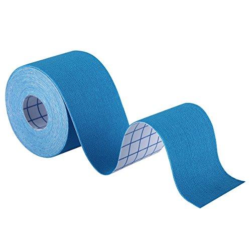 Bandes de Kinesiologie OMorc Bande Thérapeutique de Sports pour l'épaule, Genou, Coude, Cheville et Cou Douleurs Soulagées et Performances Améliorées (Bleu)