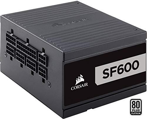 Corsair cp-9020182-eu alimentatore completamente modulare da 600 w, 80 plus platinum, nero