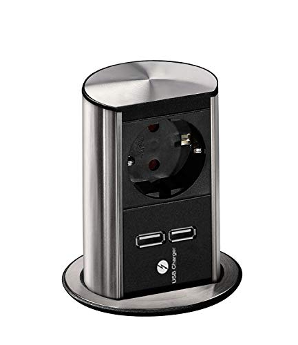 Oferta de Bachmann elevator - Torreta empotrar mesa 1xschuko+2xusb cargador