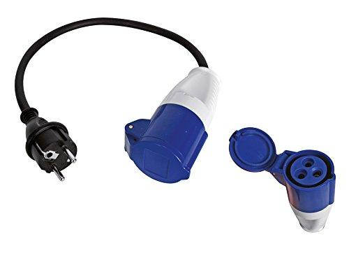 Kabel Adapter mit Schuko-Stecker auf Buchse CEE 40cm