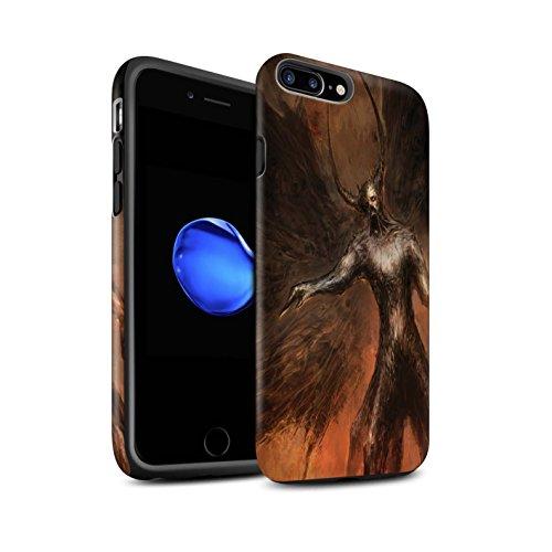 Offiziell Chris Cold Hülle / Matte Harten Stoßfest Case für Apple iPhone 8 Plus / Drachen/Finsternis Muster / Dunkle Kunst Dämon Kollektion Schwarzen Flügeln