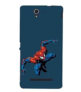 EPICCASE Spiderman Mobile Back Case Cover For Sony Xperia C3 (Designer Case)