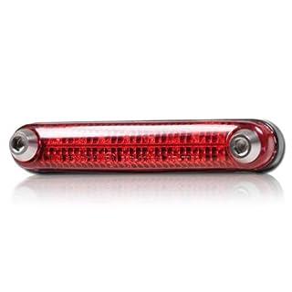 Motorrad LED Rücklicht 'Rail', ohne KZB, biegsam, rot, Maße: L=105mm x B=19mm x H=18mm, E-geprüft