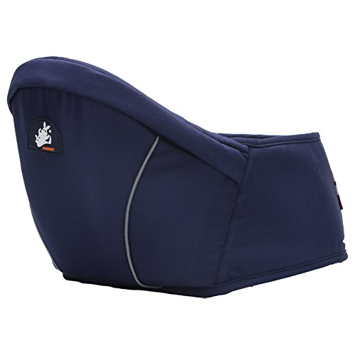 Portabebés de cadera moderno y cómodo con correas ajustables, para bebés de 0 a 3 años, Mujer, azul oscuro