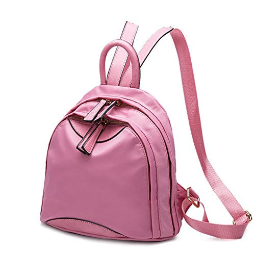 CLOTHES- Versione coreana del zaino dello zaino del sacchetto del panno del Oxford casuale selvaggio del mini zaino delle signore ( Colore : Nero ) Rosa