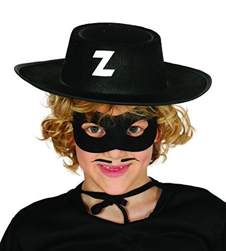 z-Fuchs, für Kinder, schwarz (13560) (Schwarzer Zorro Hut)