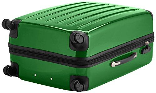 HAUPTSTADTKOFFER - Alex - Hartschalen-Koffer Koffer Trolley Rollkoffer Reisekoffer Erweiterbar, 4 Rollen, 75 cm, 119 Liter, Grün - 5