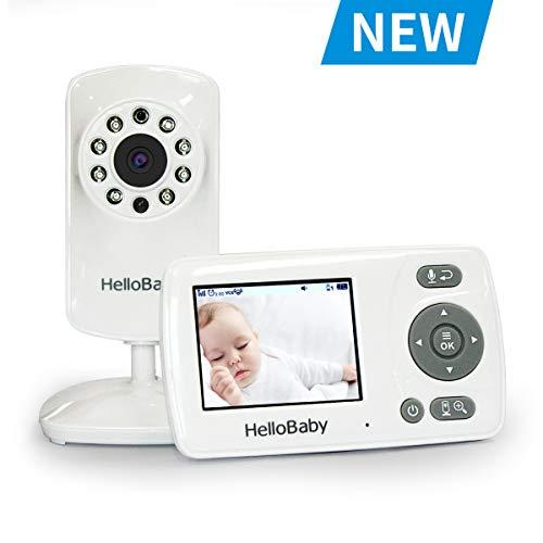 HelloBaby HB30 Vigilabebés Video Baby Monitor con Cámara de Visión Nocturna por Infrarrojos, Conversación...