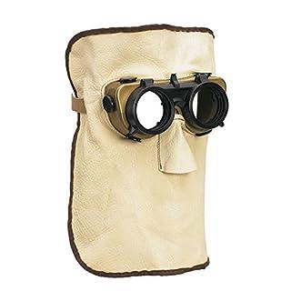 Schweißermaske aus Leder mit Ø 50mm Sicherfeldern (rund)