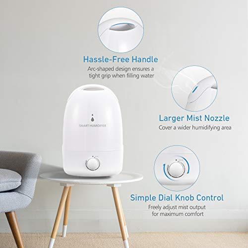 Billig Homasy Luftbefeuchter, frische Nebelung, leise, 3 l, Smart ...