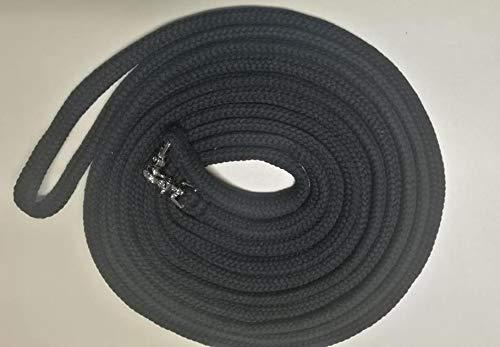 Langzügel aus Baumwolle 8 Meter geschlossen - Farbe: schwarz