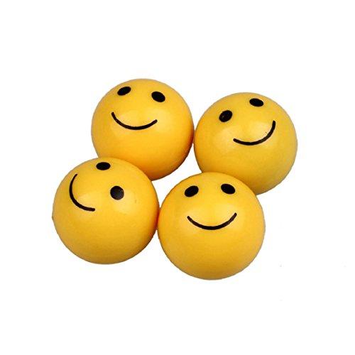 Culater® 4 Stück Smiley Face lächelndes Gesicht Auto LKW Motorrad Gummireifen Ventilkappe -