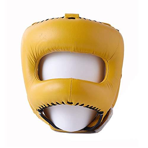 Contactsly-sport Casco de Boxeo Protector de Cabeza para Boxeo y Artes Marciales Mixtas, Color Amarillo...