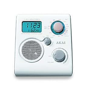 Akai AWP10WE wasserdicht Radio weiß