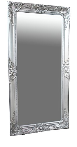 Spiegel Wandspiegel antik silber Barock MELINA 100 x 50 cm