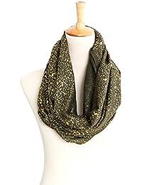 Sciarpa in bronzo cotone Sciarpa di canapa Autunno Inverno caldo stelle  anello in sciarpa abito da 03adaa41f69b