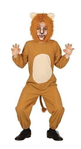Kinder Jungen Mädchen LÖWE Jungle Wild Safari Animal Fancy Kleid Kostüm Outfit 3-12Jahre - Braun, 140-152