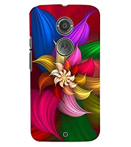 ColourCraft Lovely Flowers Pattern Design Back Case Cover for MOTOROLA MOTO X2