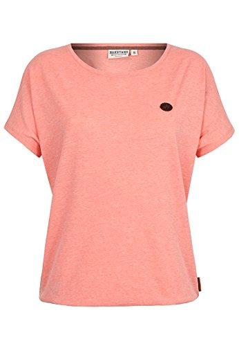 Damen T-Shirt Naketano Schnella Baustella III T-Shirt,coral red melange,S