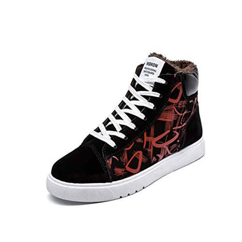 Men's Lace Up Style Casual Shoes red