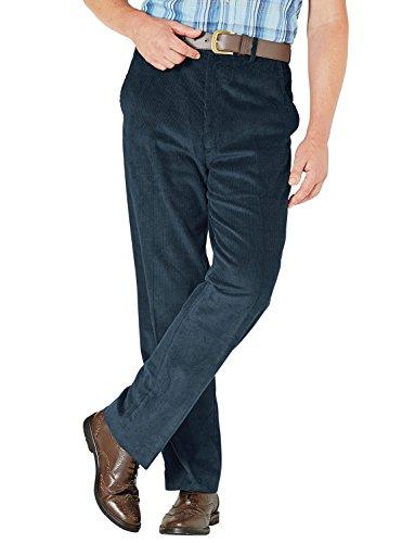 Herren Corduroy Baumwollhose mit versteckten Extra-Bund Blau