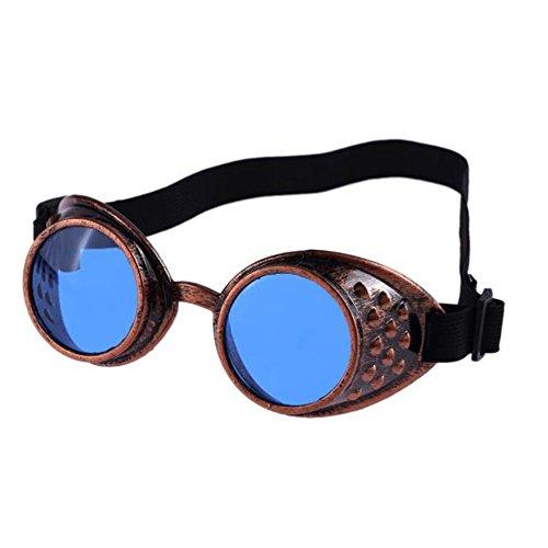 Lunettes de soleil style vintage Steampunk, lunettes de cosplay cosplay de  soudage (Bleu) bab6110392cc