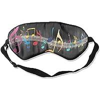 Eye Mask Eyeshade Music Notes Sleeping Mask Blindfold Eyepatch Adjustable Head Strap preisvergleich bei billige-tabletten.eu
