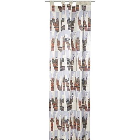 Deko Trends New York 8003 01 075 - Cortina, color multicolor (245 x 140 cm)