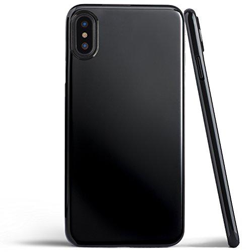 totallee iPhone X Hülle, Dünnste Hülle Premium Ultradünn Leicht Schmal Minimal Anti-Kratz Schutz Case - Für Apple iPhone X (Diamantschwarz)