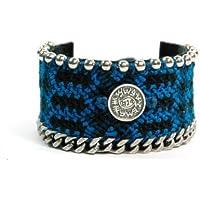 Mizze Made For Luck Jewelry braccialetto intrecciato contro il male con sigillo di Salomone amuleto di protezione
