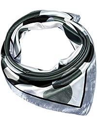 COMVIP Hombres La seda del verano de Protección Solar satén del cuello del cuadrado de la bufanda del pañuelo