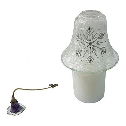 Glitzer mit Frost Effekt Glas-Kerze im Glas Lampe & Sparkling Woods Duftkerze Jar & Lily Kerzenlöscher Set