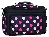 TK-22 Wickeltasche KIM von Baby-Joy XXXL Übergröße Schwarz-Lila-Pink Kugel Windeltasche Pflegetasche Babytasche Tragetasche