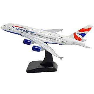 TANG DYNASTY(TM) 1:400 Standard Edition Air Bus A380 British Airways Metal Airplane Model Plane Toy Plane Model
