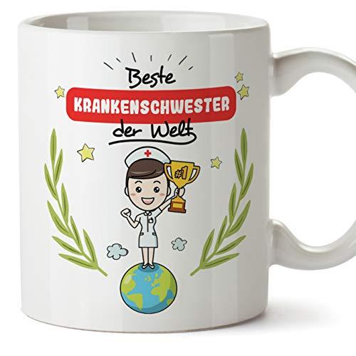 Krankenschwester Tasse/Becher/Mug Geschenk Schöne and lustige kaffetasse - Beste Krankenschwester der Welt - Keramik 350 ml