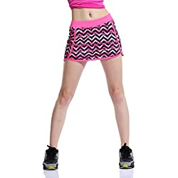 Falda de Tenis Skort Golf Mujer Niña Negra Pantalón Ropa Padel Running Corta Moda Deportivas Short M