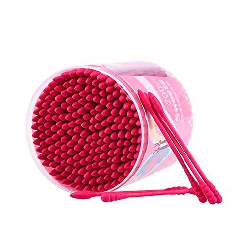 Swiftswan 200 pcs/boîte coton-tige jetable double tête de maquillage maillot coton cotons outil cosmétique coton bourgeons oreille propre outils