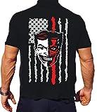 feuer1 T-Shirt Black, Coney Island FDNY - EMS, Brooklyn, (Silber/Weiss/rot) XL
