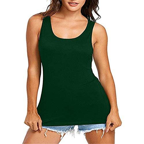 Damen Leichte Hohl Oberteil Frauen Damen T-Shirt Rundhals Kurzarm Ladies Sommer Casual Oberteil Locker Bluse Tops - Weiches Material - Sehr Angenehm Zu Tragen Green 5XL -