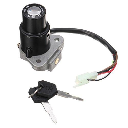 Alamor 3 Broches Interrupteur d'allumage à 4 Fils et clé pour Yamaha DT125 R TZR250 XT350 XT600